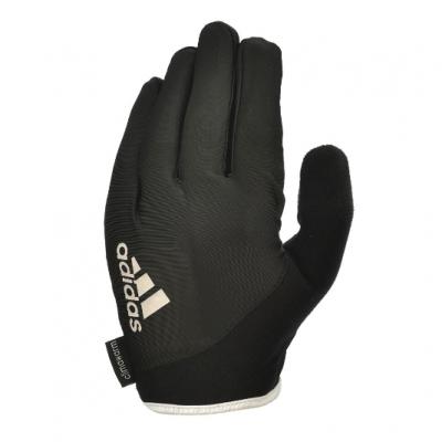 Перчатки для фитнеса (с пальцами) Adidas Essential (черный/белый), Арт. ADGB-12421WH