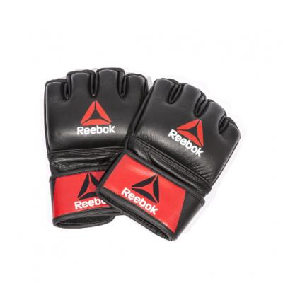 Профессиональные кожаные перчатки Reebok Combat для MMA, Арт. RSCB-10310RDBK