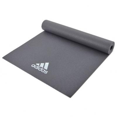 Коврик (мат) для йоги Adidas, Цвет Тёмно-серый, Арт. ADYG-10400DG