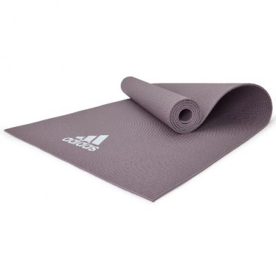 Коврик (мат) для йоги Adidas, Цвет Дымчатый серый, Арт. ADYG-10400VG