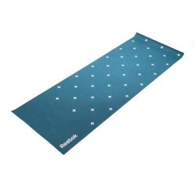 Тренировочный коврик (мат) для йоги двухсторонний 4мм Полоски, Арт. RAYG-11030GN