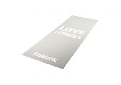 Тренировочный коврик (мат) для фитнеса тонкий Love(серый) Арт. RAMT-11024GRL